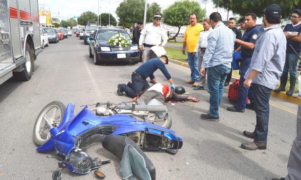 Atropellan a motociclista
