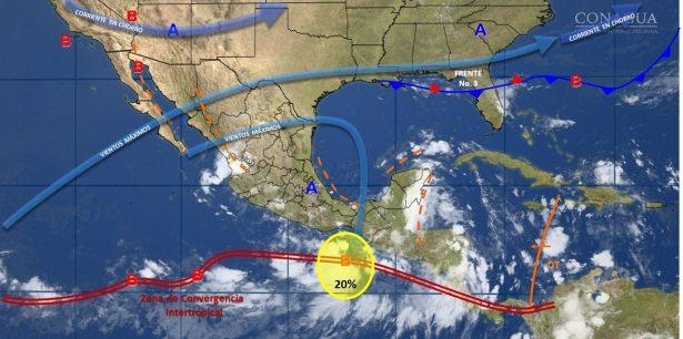 Se prevé lluvias aisladas hacia el norte, noreste y sur del estado de Guanajuato.