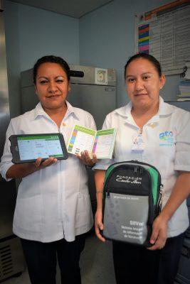 SSG implementa en Xichú Cartilla de Vacunación Electrónica