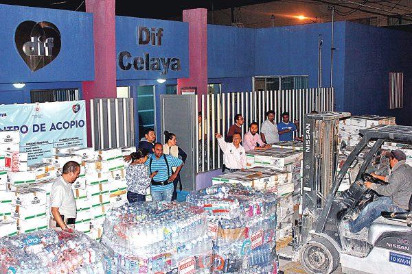 Salieron rumbo al istmo 10 toneladas de víveres donados por celayenses