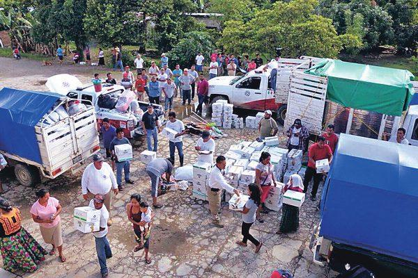 Cruz Roja y municipio envían ayuda a Oaxaca