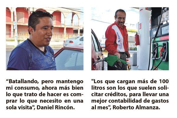 Aumentaron tres centavos gasolinas