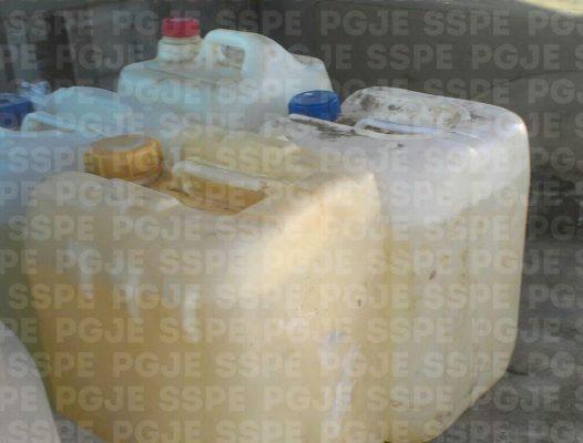 Detienen en Coroneo a una persona con 160 litros de combustible presuntamente robado