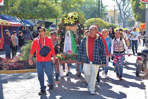 Festejaron ayer a la Virgen del Tepeyac