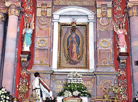 Preparan festejo a la Virgen de Guadalupe