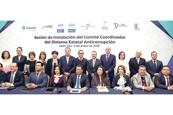 Instalan Comité Coordinador del Sistema Estatal Anticorrupción