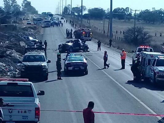 Accidente bloquea carretera San Miguel-Querétaro