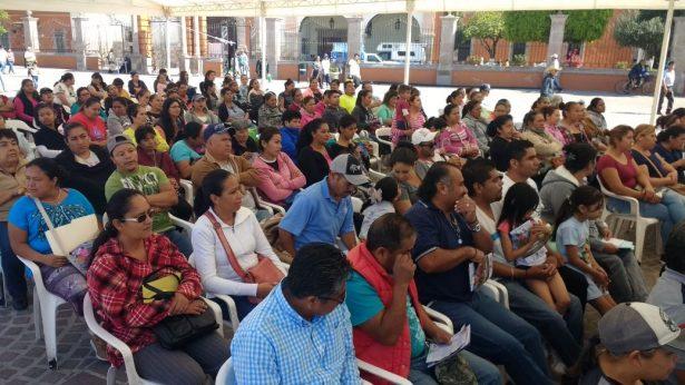 Benefician a 150 familias de Comonfort