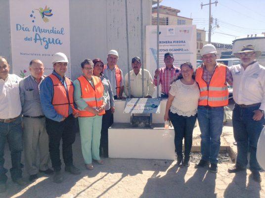Colocan primera piedra para edificio del Consejo Técnico de Aguas de Ocampo
