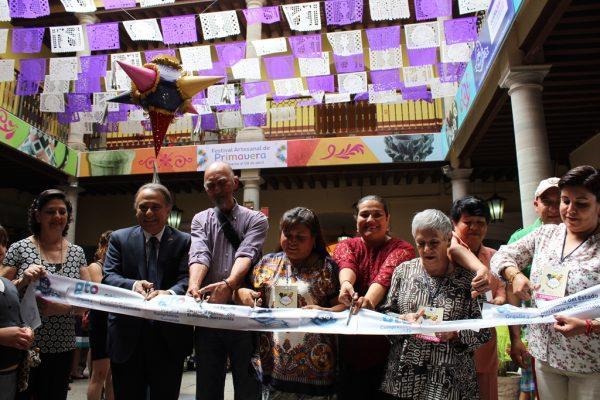 Inauguran el Festival Artesanal de Primavera