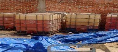 Mediante cateo, aseguran más de 13 mil litros de hidrocarburo en Celaya