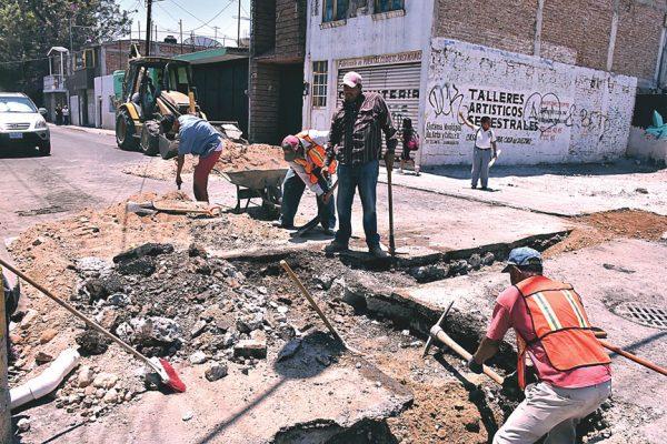 Hay calles cerradas por obras de Jumapa