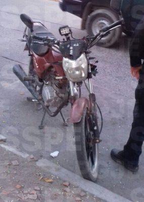 Recuperan en Villagrán una motocicleta con reporte de robo