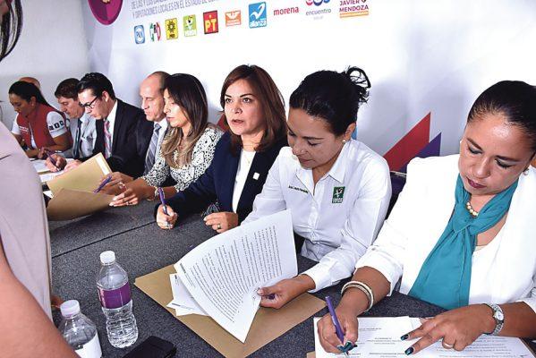 Firman siete candidatos de Celaya el Pacto de Civilidad