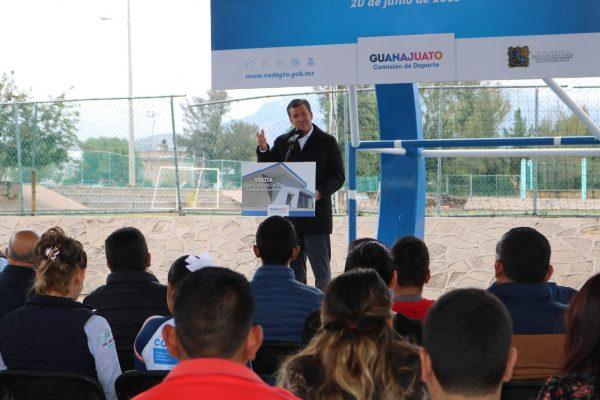 Autoridades Municipales y Estatales visitan la Unidad Deportiva de San Luis de la Paz