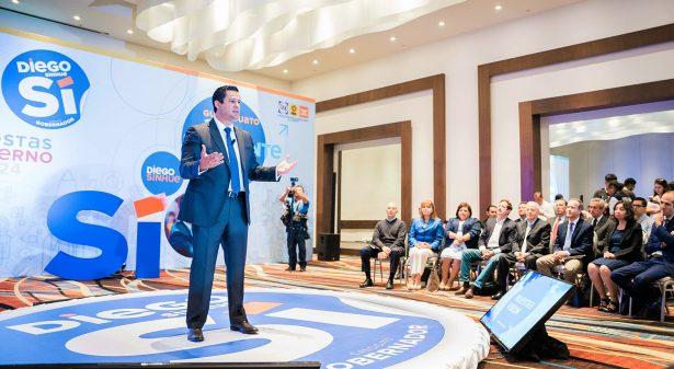 Presenta propuesta  de gobierno Diego