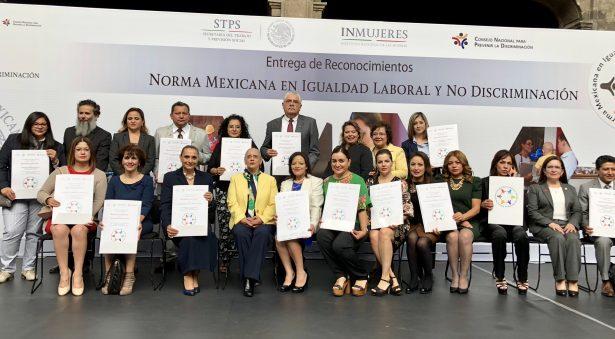 Gobierno del Estado de Guanajuato recibió reconocimiento por su Certificación en la Norma Mexicana en Igualdad Laboral y No Discriminación 2017