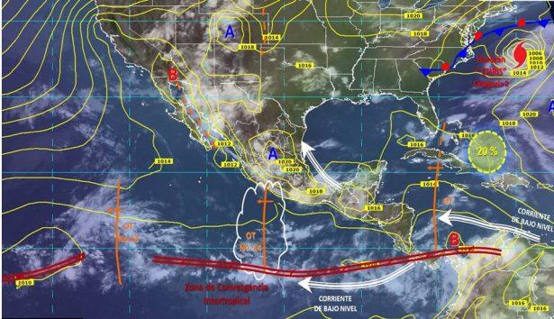 Se esperan lluvias acompañadas de chubascos y actividad eléctrica para el estado de Guanajuato