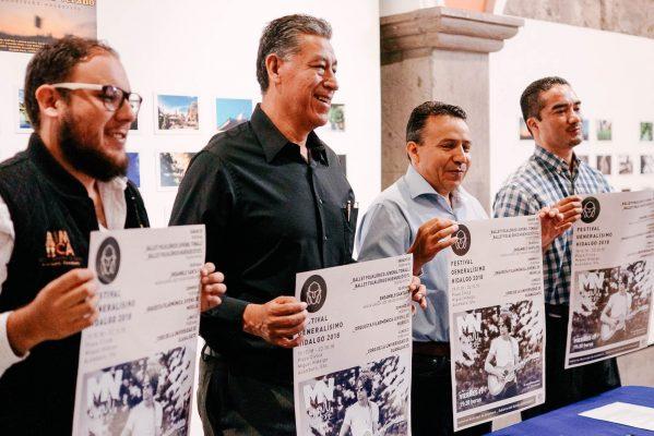 Presentan cartel del Festival Generalísimo Hidalgo 2018