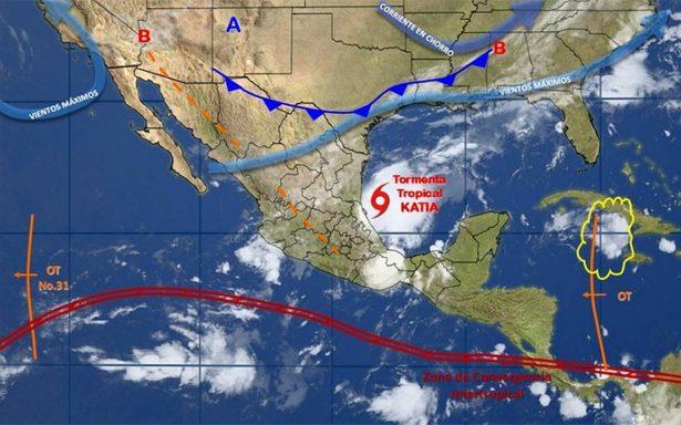 Se desarrolla tormenta tropical Katia en el occidente del Golfo de México