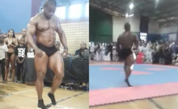 [Video] Fisicoculturista muere durante una acrobacia en plena competencia