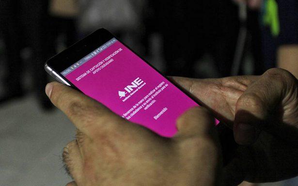 INE defiende aplicación para recolectar firmas de independientes