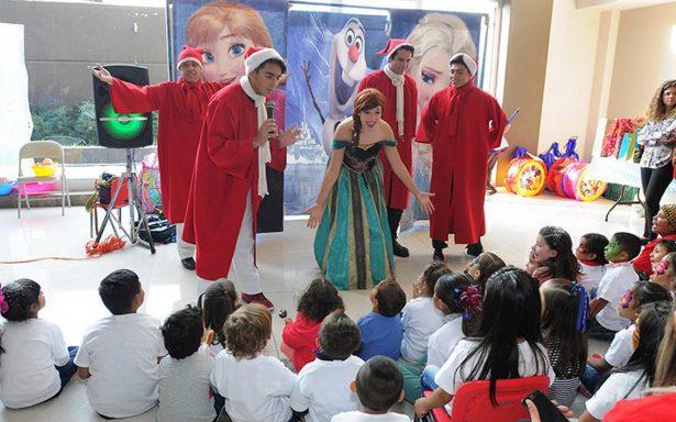 Los niños que apoya la Fundación México Sonríe tuvieron una convivencia navideña
