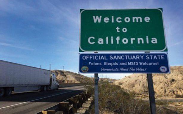 Con sarcasmo, carteles condenan las llamadas ciudades santuario