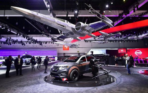 Estrellas de Hollywood: Salón del Automóvil de Los Ángeles