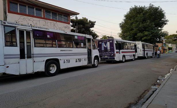 Estalla huelga de transportistas del servicio urbano de Oaxaca