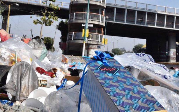 La otra cara de la Navidad: basura, contaminación y malgasto energético en la CDMX
