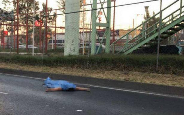 Hombre se avienta de un puente peatonal y es atropellado sobre Zaragoza