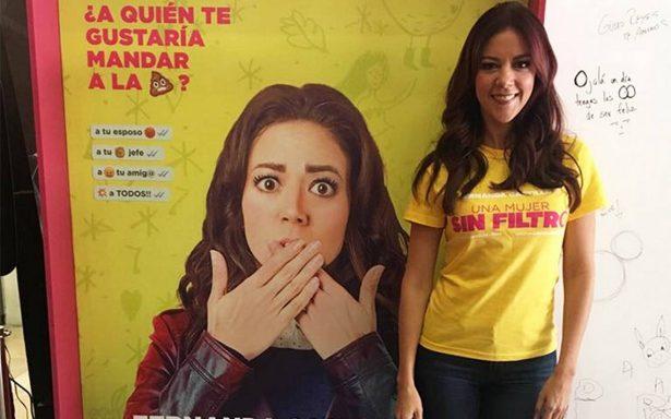 """Fernanda Castillo celebra su primer protagónico en """"Una mujer sin filtro"""""""