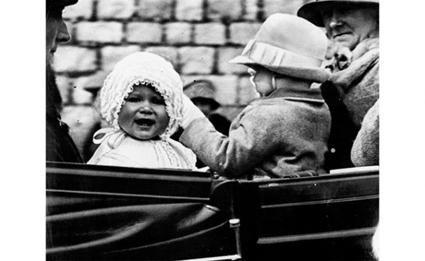 Así era la reina Isabel II de Inglaterra de bebé