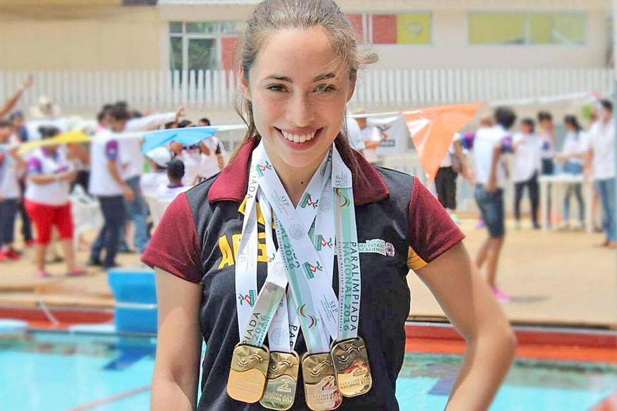 KENIA VARGAS, seleccionada nacional para los Juegos Parapanamericanos de Sao Paulo, Brasil 2017. FOTO EL SOL DEL CENTRO