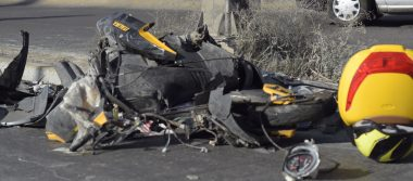 Motociclista muere tras ser impactado por un auto