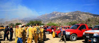 Controlado mas no extinguido el incendio en el Cerro del Muerto