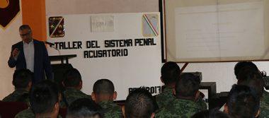 PGR Aguascalientes capacita elementos  de la Secretaría de la Defensa Nacional