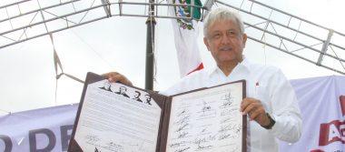 AMLO firmó aquí el Acuerdo de Unidad por el Renacimiento y Prosperidad de México