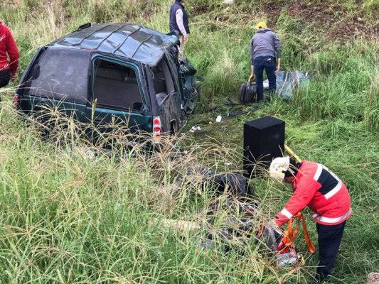Doble accidente en la 70 Poniente y el libramiento a Calvillo: una mujer grave