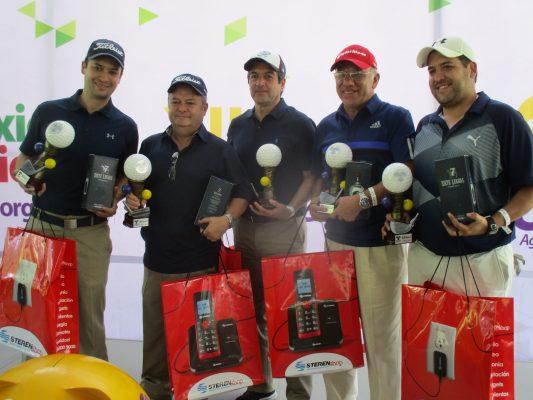 Javier Ramírez Jr. y Sr., Armando Medina Sr. y Jr. y Enrique Clemente campeones en golf del Crit