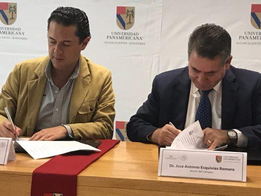 Firma UP campus Aguascalientes convenio de colaboración con la Secretaría de Economía