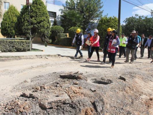 Gira de supervisión de la Alcaldesa  por las obras de infraestructura vial