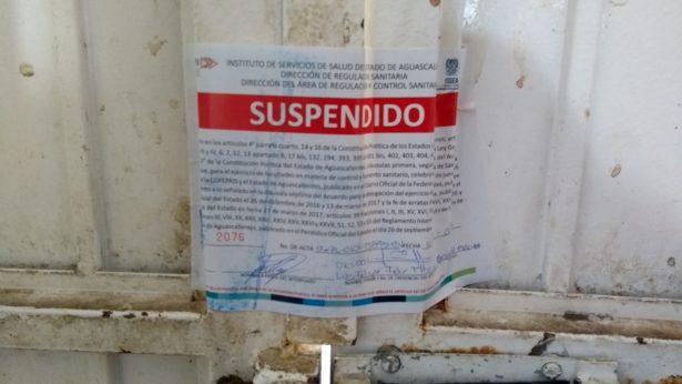 Clausura ISSEA rastro  de Rincón de Romos