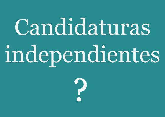 Las candidaturas independientes una  distorsión del objetivo que se buscaba