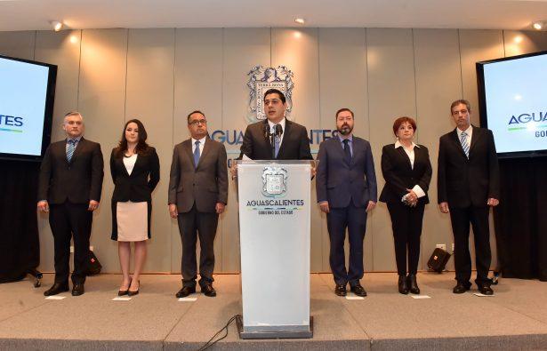 Ajustes en el gabinete  del gobernador Orozco