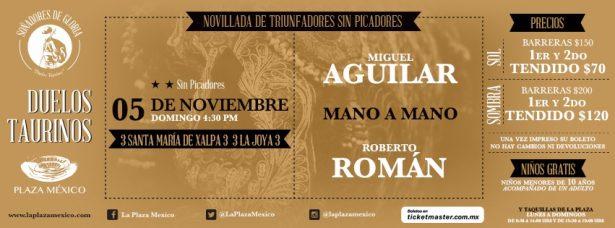 Aguilar y Román, mano a mano, en la México