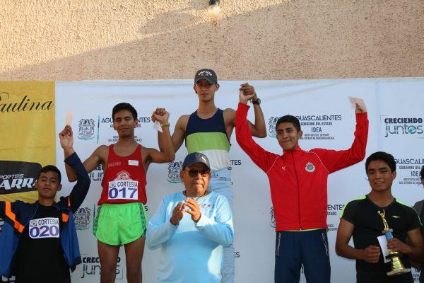 Luis Elian Cornejo y Juan M. Vega ganadores de juveniles A y B Esmeralda Zapata y Carolina Sandoval en damas