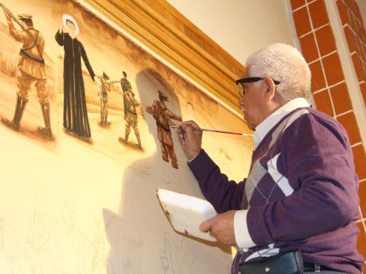 Con pinturas cobra vida  el templo de San Felipe