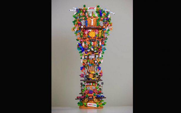 Fórmula 1 presenta trofeo artesanal del GP de México en forma de árbol de la vida